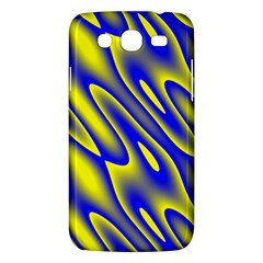 Blue Yellow Wave Abstract Background Samsung Galaxy Mega 5.8 I9152 Hardshell Case