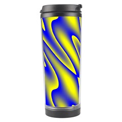 Blue Yellow Wave Abstract Background Travel Tumbler