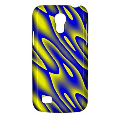 Blue Yellow Wave Abstract Background Galaxy S4 Mini