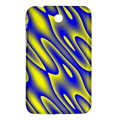 Blue Yellow Wave Abstract Background Samsung Galaxy Tab 3 (7 ) P3200 Hardshell Case