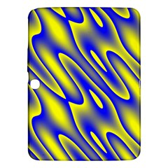 Blue Yellow Wave Abstract Background Samsung Galaxy Tab 3 (10.1 ) P5200 Hardshell Case
