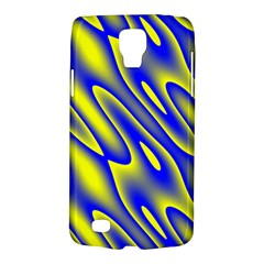 Blue Yellow Wave Abstract Background Galaxy S4 Active