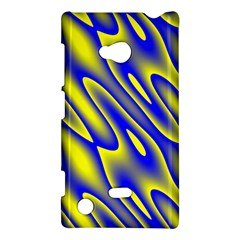 Blue Yellow Wave Abstract Background Nokia Lumia 720