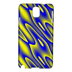 Blue Yellow Wave Abstract Background Samsung Galaxy Note 3 N9005 Hardshell Case
