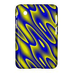 Blue Yellow Wave Abstract Background Samsung Galaxy Tab 2 (7 ) P3100 Hardshell Case