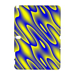 Blue Yellow Wave Abstract Background Galaxy Note 1