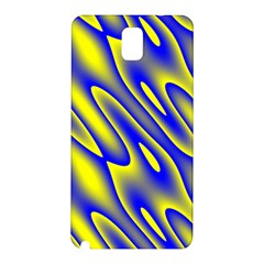 Blue Yellow Wave Abstract Background Samsung Galaxy Note 3 N9005 Hardshell Back Case