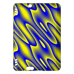 Blue Yellow Wave Abstract Background Kindle Fire HDX Hardshell Case