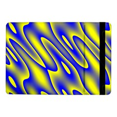 Blue Yellow Wave Abstract Background Samsung Galaxy Tab Pro 10 1  Flip Case