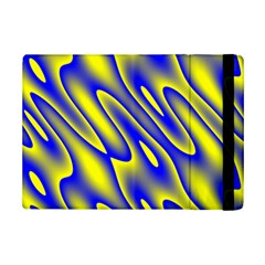 Blue Yellow Wave Abstract Background Ipad Mini 2 Flip Cases