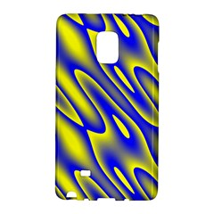 Blue Yellow Wave Abstract Background Galaxy Note Edge