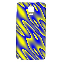 Blue Yellow Wave Abstract Background Galaxy Note 4 Back Case