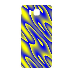 Blue Yellow Wave Abstract Background Samsung Galaxy Alpha Hardshell Back Case