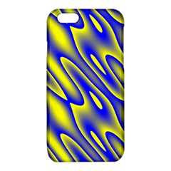 Blue Yellow Wave Abstract Background iPhone 6/6S TPU Case
