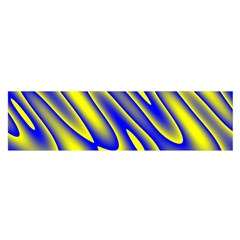 Blue Yellow Wave Abstract Background Satin Scarf (Oblong)