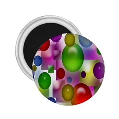 Colored Bubbles Squares Background 2 25  Magnets