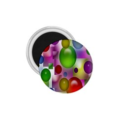 Colored Bubbles Squares Background 1.75  Magnets