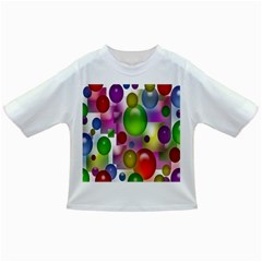 Colored Bubbles Squares Background Infant/toddler T Shirts