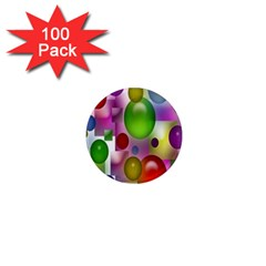 Colored Bubbles Squares Background 1  Mini Magnets (100 pack)