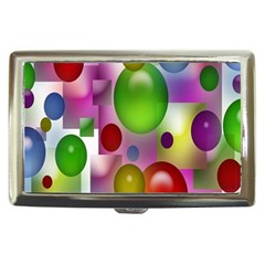 Colored Bubbles Squares Background Cigarette Money Cases