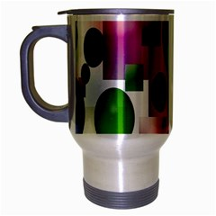 Colored Bubbles Squares Background Travel Mug (silver Gray)