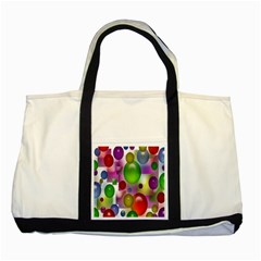 Colored Bubbles Squares Background Two Tone Tote Bag