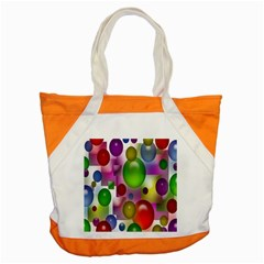 Colored Bubbles Squares Background Accent Tote Bag