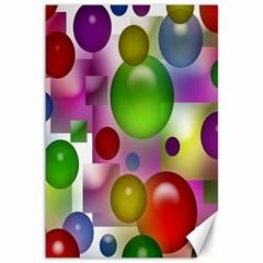 Colored Bubbles Squares Background Canvas 12  X 18