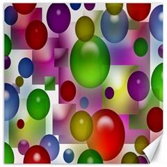 Colored Bubbles Squares Background Canvas 16  X 16
