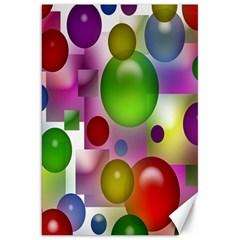 Colored Bubbles Squares Background Canvas 20  x 30