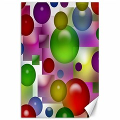 Colored Bubbles Squares Background Canvas 24  X 36