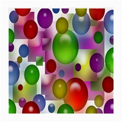 Colored Bubbles Squares Background Medium Glasses Cloth