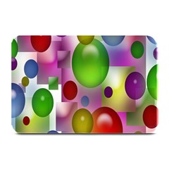 Colored Bubbles Squares Background Plate Mats