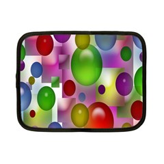 Colored Bubbles Squares Background Netbook Case (Small)
