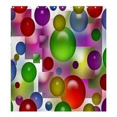 Colored Bubbles Squares Background Shower Curtain 66  X 72  (large)