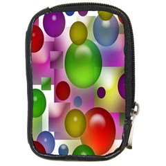Colored Bubbles Squares Background Compact Camera Cases