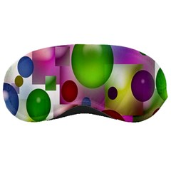Colored Bubbles Squares Background Sleeping Masks