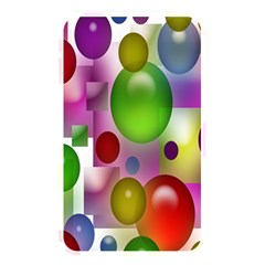 Colored Bubbles Squares Background Memory Card Reader