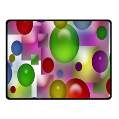 Colored Bubbles Squares Background Fleece Blanket (Small)