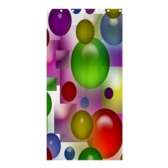 Colored Bubbles Squares Background Shower Curtain 36  x 72  (Stall)