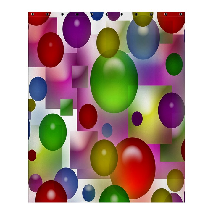 Colored Bubbles Squares Background Shower Curtain 60  x 72  (Medium)