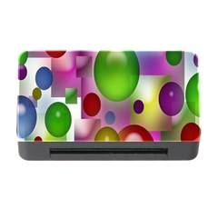 Colored Bubbles Squares Background Memory Card Reader with CF