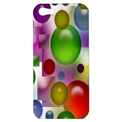 Colored Bubbles Squares Background Apple iPhone 5 Hardshell Case