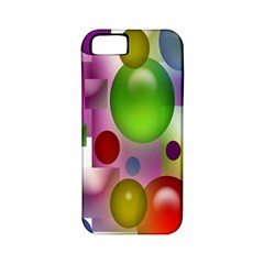Colored Bubbles Squares Background Apple Iphone 5 Classic Hardshell Case (pc+silicone)