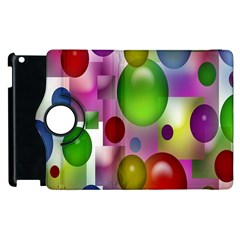Colored Bubbles Squares Background Apple Ipad 3/4 Flip 360 Case
