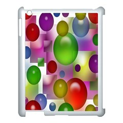 Colored Bubbles Squares Background Apple Ipad 3/4 Case (white)