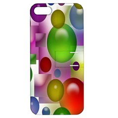 Colored Bubbles Squares Background Apple iPhone 5 Hardshell Case with Stand