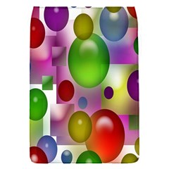 Colored Bubbles Squares Background Flap Covers (s)