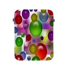 Colored Bubbles Squares Background Apple iPad 2/3/4 Protective Soft Cases