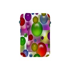 Colored Bubbles Squares Background Apple Ipad Mini Protective Soft Cases